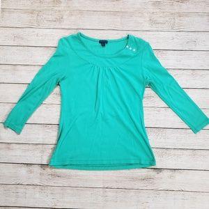 Lilla P Medium turquoise top